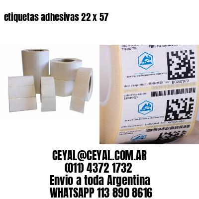 etiquetas adhesivas 22 x 57