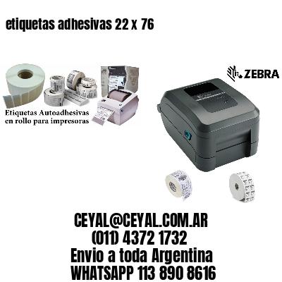 etiquetas adhesivas 22 x 76