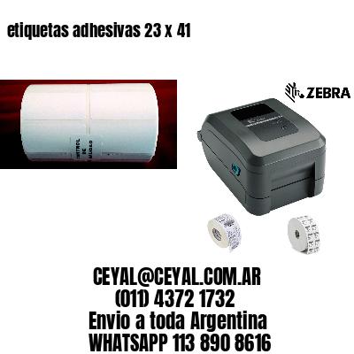 etiquetas adhesivas 23 x 41