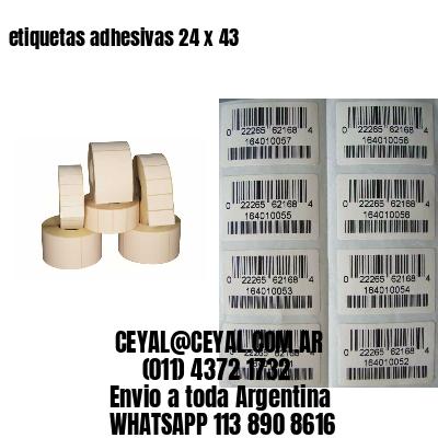 etiquetas adhesivas 24 x 43