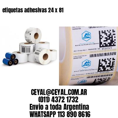etiquetas adhesivas 24 x 81