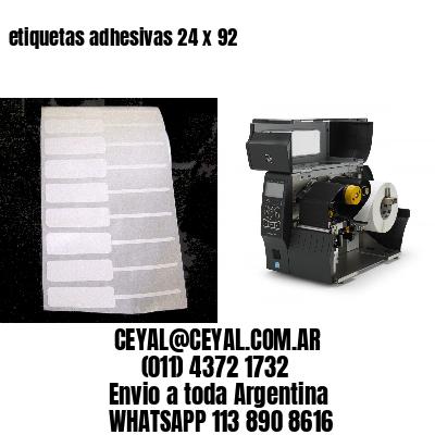 etiquetas adhesivas 24 x 92
