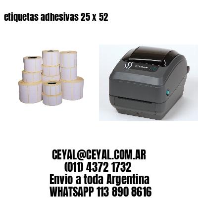 etiquetas adhesivas 25 x 52