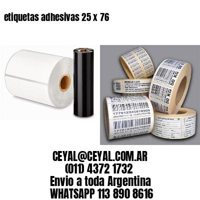 etiquetas adhesivas 25 x 76