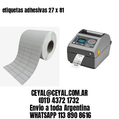 etiquetas adhesivas 27 x 81
