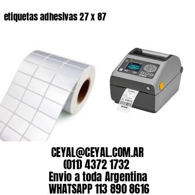 etiquetas adhesivas 27 x 87