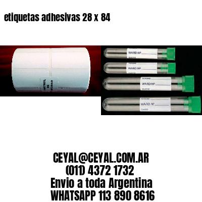 etiquetas adhesivas 28 x 84