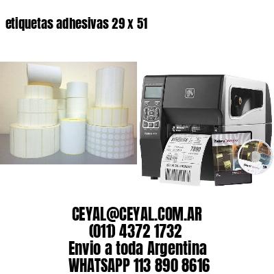 etiquetas adhesivas 29 x 51