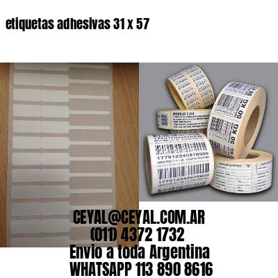 etiquetas adhesivas 31 x 57
