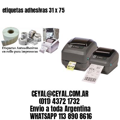etiquetas adhesivas 31 x 75