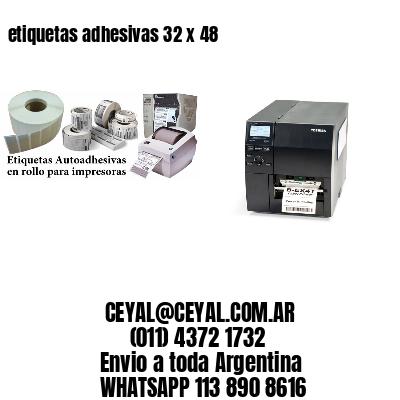 etiquetas adhesivas 32 x 48