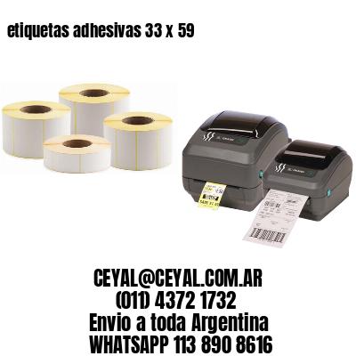 etiquetas adhesivas 33 x 59
