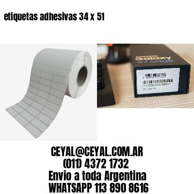 etiquetas adhesivas 34 x 51