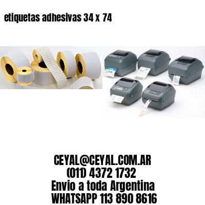 etiquetas adhesivas 34 x 74