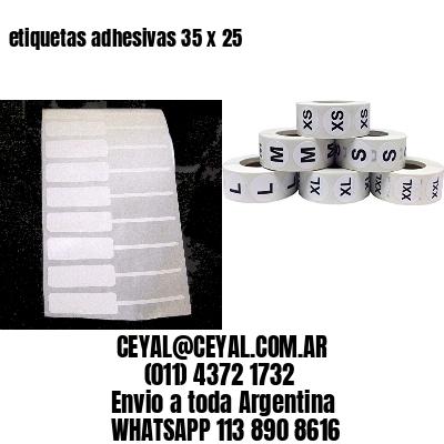 etiquetas adhesivas 35 x 25