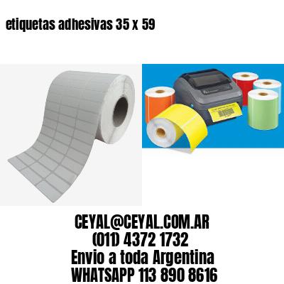 etiquetas adhesivas 35 x 59