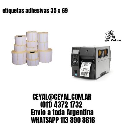 etiquetas adhesivas 35 x 69