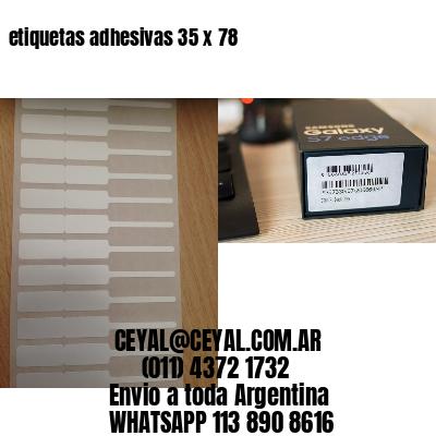 etiquetas adhesivas 35 x 78