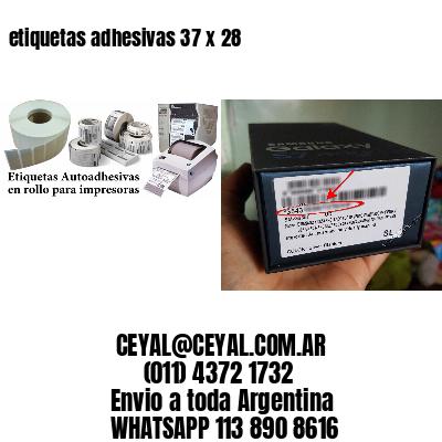 etiquetas adhesivas 37 x 28