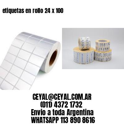 etiquetas en rollo 24 x 100