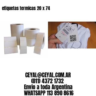 etiquetas termicas 20 x 74