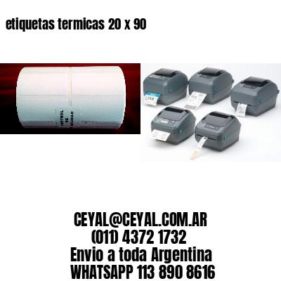 etiquetas termicas 20 x 90