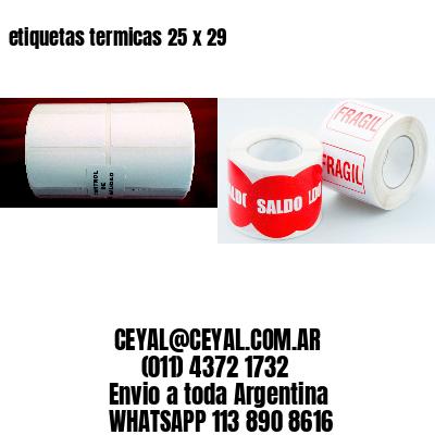 etiquetas termicas 25 x 29