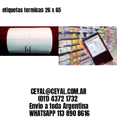 etiquetas termicas 26 x 65