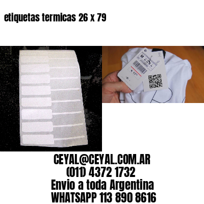 etiquetas termicas 26 x 79
