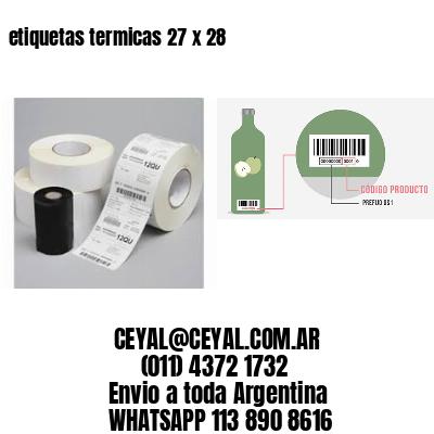 etiquetas termicas 27 x 28