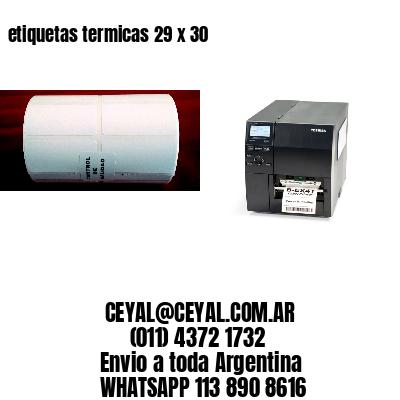etiquetas termicas 29 x 30