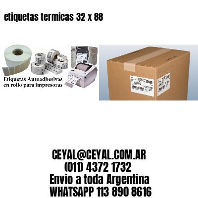 etiquetas termicas 32 x 88