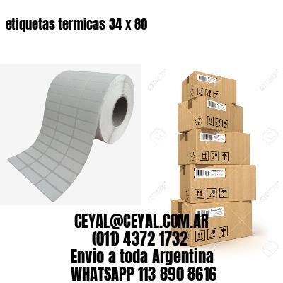 etiquetas termicas 34 x 80