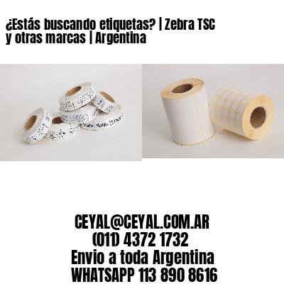 ¿Estás buscando etiquetas?   Zebra TSC y otras marcas   Argentina