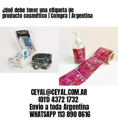 ¿Qué debe tener una etiqueta de producto cosmético   Compra   Argentina
