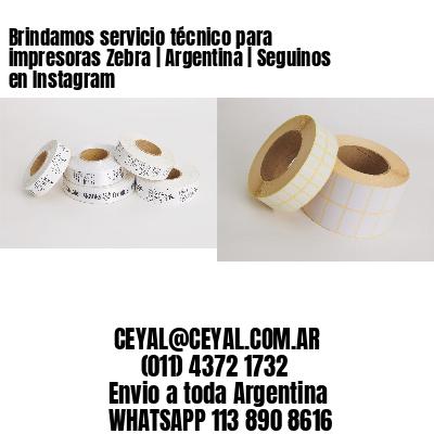 Brindamos servicio técnico para impresoras Zebra | Argentina | Seguinos en Instagram