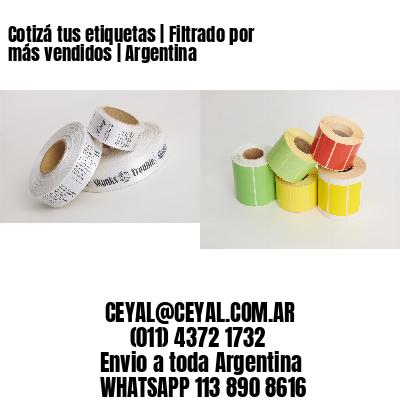 Cotizá tus etiquetas   Filtrado por más vendidos   Argentina