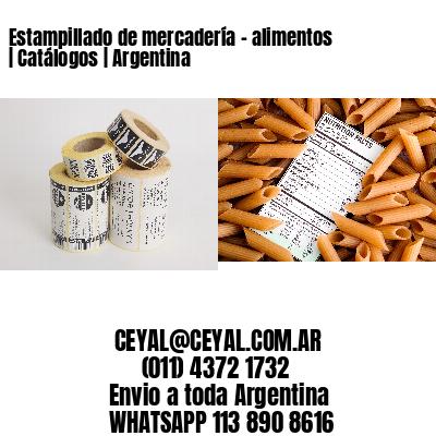 Estampillado de mercadería - alimentos | Catálogos | Argentina