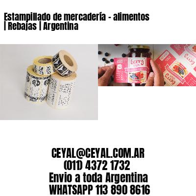 Estampillado de mercadería - alimentos | Rebajas | Argentina