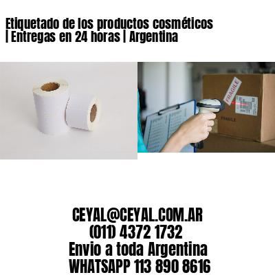 Etiquetado de los productos cosméticos | Entregas en 24 horas | Argentina