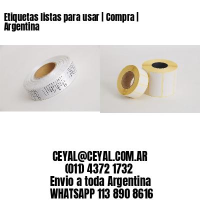 Etiquetas listas para usar   Compra   Argentina