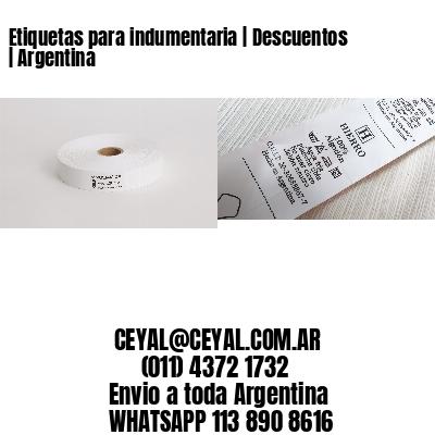 Etiquetas para indumentaria   Descuentos   Argentina