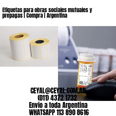Etiquetas para obras sociales mutuales y prepagas   Compra   Argentina
