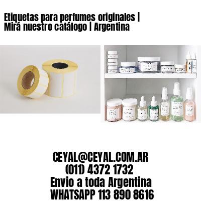 Etiquetas para perfumes originales   Mirá nuestro catálogo   Argentina