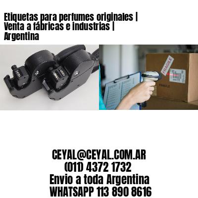 Etiquetas para perfumes originales   Venta a fábricas e industrias   Argentina