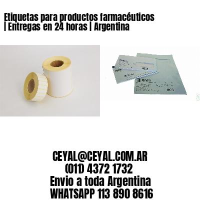Etiquetas para productos farmacéuticos   Entregas en 24 horas   Argentina
