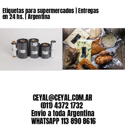 Etiquetas para supermercados | Entregas en 24 hs. | Argentina