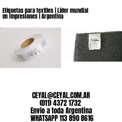 Etiquetas para textiles | Líder mundial en impresiones | Argentina