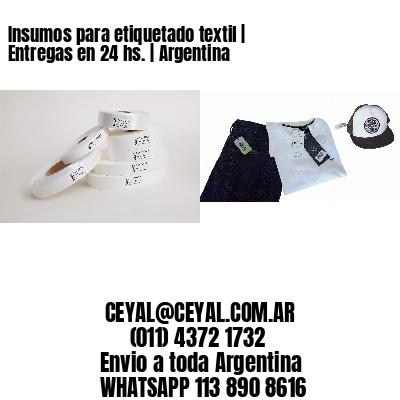 Insumos para etiquetado textil | Entregas en 24 hs. | Argentina