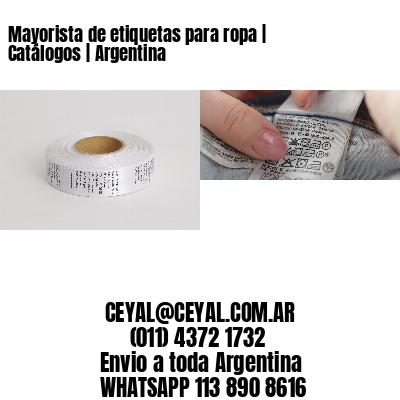 Mayorista de etiquetas para ropa | Catálogos | Argentina